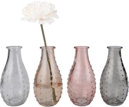 Set de jarrones de vidrio Leona, 4pzas.