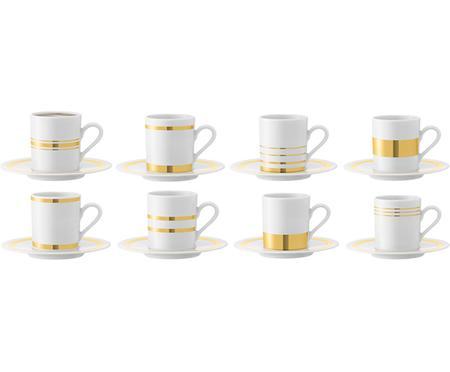 Espressotassen mit Untertassen Deco, 8 Stück