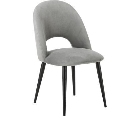 Sametová čalouněná židle Rachel