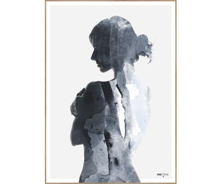 Zarámovaný digitální tisk Woman in Blue