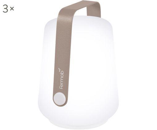 Mobile LED Außenleuchten Balad, 3 Stück