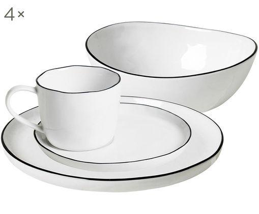 Handgefertigtes Frühstücks-Set Salt, 16-tlg.
