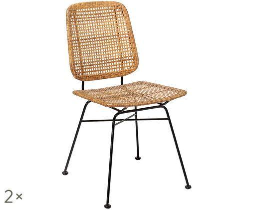 Rattan-Stühle Laurel, 2 Stück