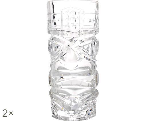 Cocktailgläser Tiki mit Relief, 2er-Set