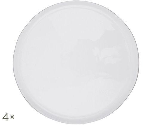 Speiseteller Abysse weiß/platin, 4 Stück