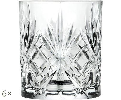 Kristallgläser Melodia mit Reliefmuster, 6er-Set