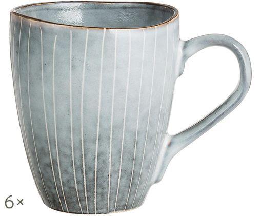 Handgefertigte Tassen Nordic Sea, 6 Stück