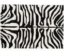 Alfombra artesanal con estampado de cebra Kapstadt
