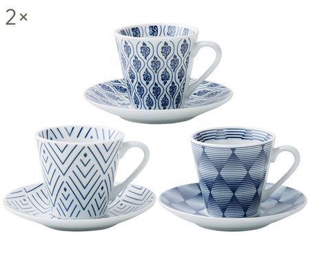Set tazze da caffè Amoilblu, 12 pz.