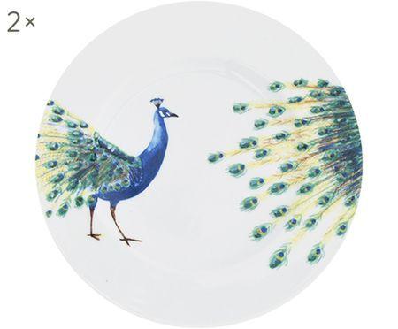 Plato postre Peacock, 2uds.