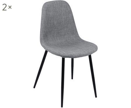Gestoffeerde stoelen Karla, 2 stuks