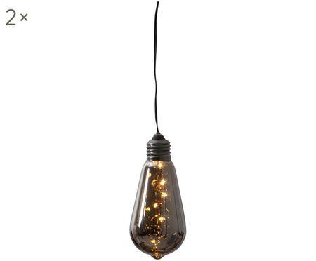 Decoratieve lampen Glow met tijdschakelaar, 2 stuks