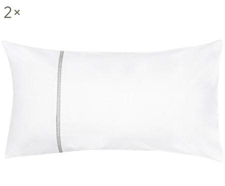 Poszewka na poduszkę z perkalu Mari, 2 szt.