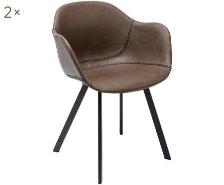 Židle spodručkami Lounge, 2 ks