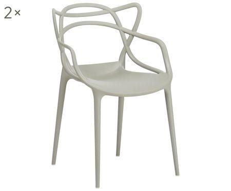Krzesło z podłokietnikami Masters, 2 szt.
