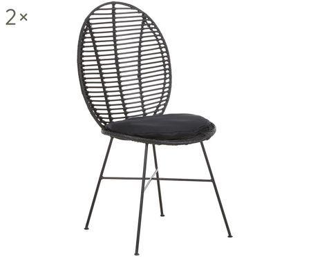 Krzesło z rattanu Merete, 2 szt.