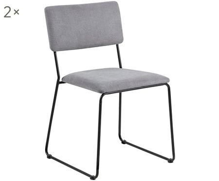 Gestoffeerde stoelen Cornelia, 2 stuks