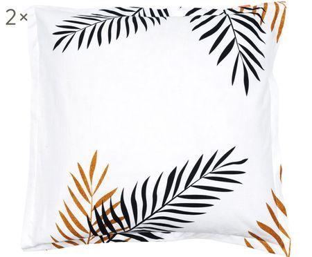 Taies d'oreiller en coton Foliage, 2 pièces