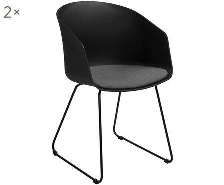 Krzesło z podłokietnikami Bogart, 2 szt.
