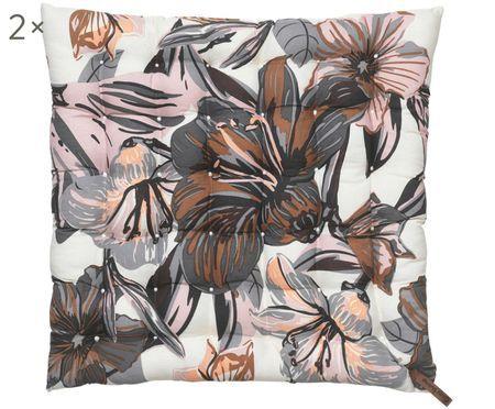 Coussins de chaise Lily Flower, 2 pièces
