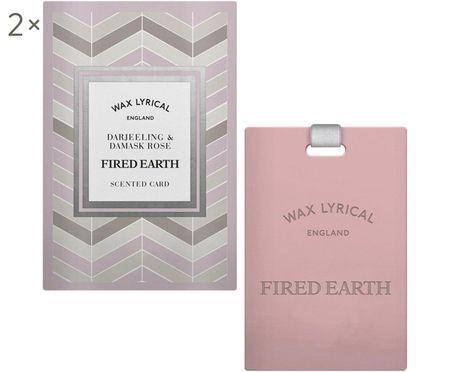 Carte parfumée Fired Earth, 2 pièces (Darjeeling & rose)