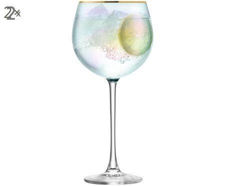 Ručně foukaná sklenice na bílé víno Sorbet, 2 ks
