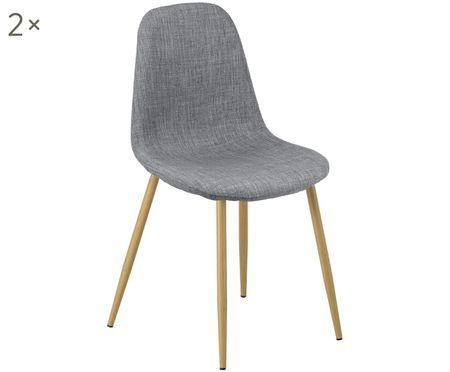 Krzesło tapicerowane Karla, 2 szt.