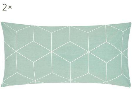 Dwustronna poszewka na poduszkę z bawełny renforcé Lynn, 2 szt.