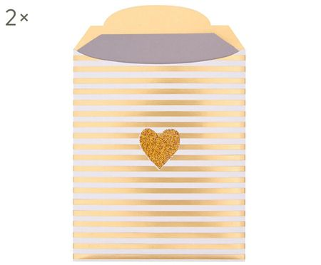 Geschenkenveloppen Heart, 2 stuks