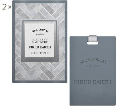Carte parfumée Fired Earth, 2 pièces (Earl Grey & vétiver)