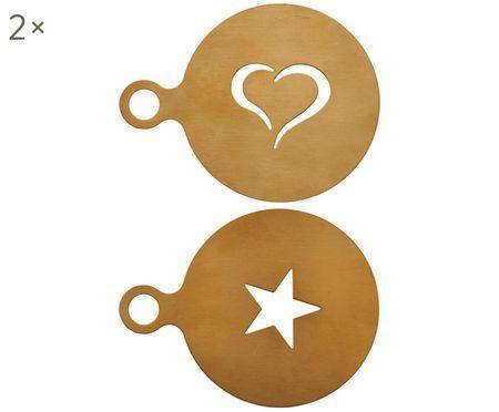 Cappuccino-Schablonen Gold, 2 Stück