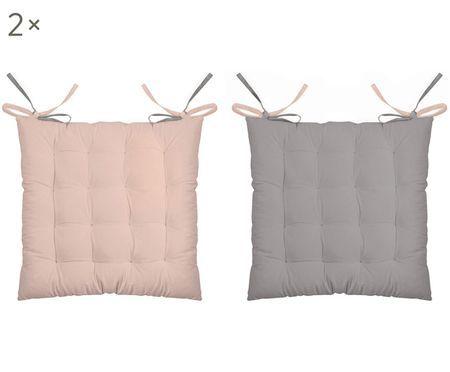 Cuscino reversibile Duo rosa/grigio, 2 pz.
