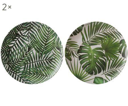 Set piatti piani in bambù Tropical, 4 pz.