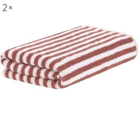 Asciugamano reversibile Viola, 2 pz.