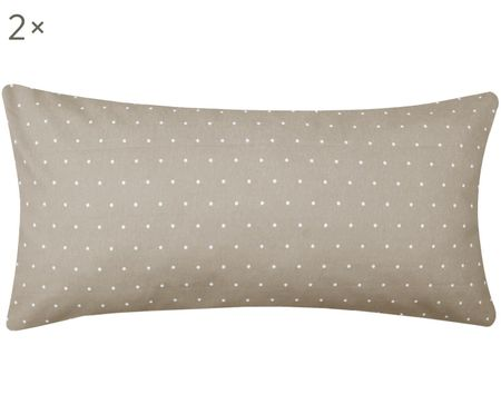 Puntíkovaný oboustranný flanelový povlak na polštář Betty, 2 ks