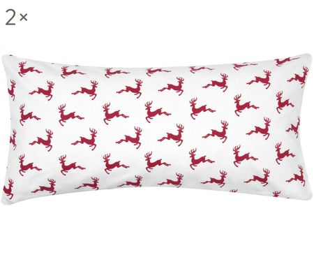 Flanelový povlak na polštář Rudolph, 2 ks