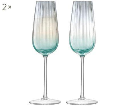Ręcznie wykonany kieliszek do szampana Dusk, 2 elem.