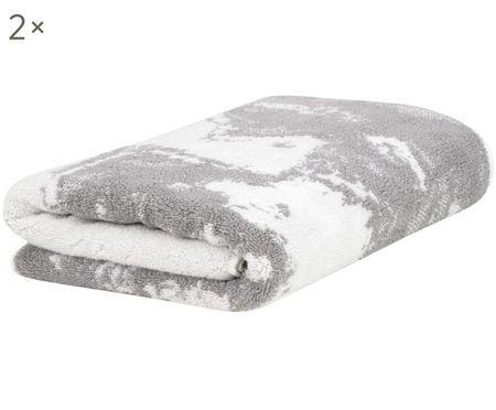 Asciugamano per ospiti Marmo, 2 pz.