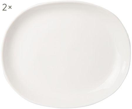 Assiettes plates Clay mat/brillant, 2 pièces