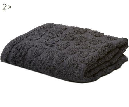 Asciugamani per ospiti Black Line Safari, 2 pz.