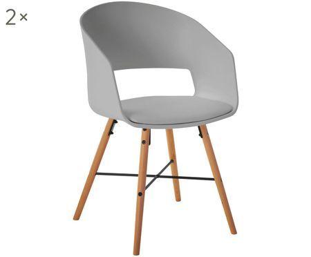 Židle spodručkami Luna, 2 ks