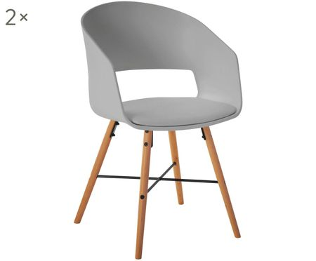 Armlehnstühle Luna im Skandi Design, 2 Stück