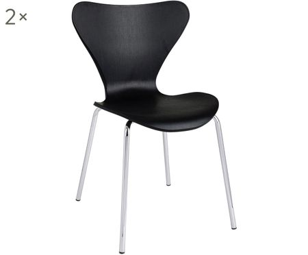 Krzesło z tworzywa sztucznego do układania w stos Tessa, 2szt.
