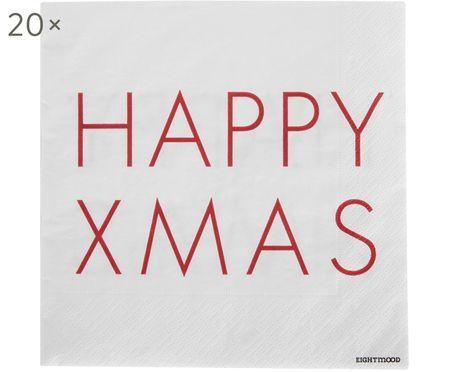Papírový ubrousek Happy Xmas, 20 ks