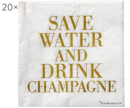 Tovaglioli di carta Save Water, 20 pz.