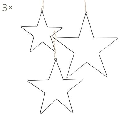 Set stelle di Natale in metallo Elvira 3 pz