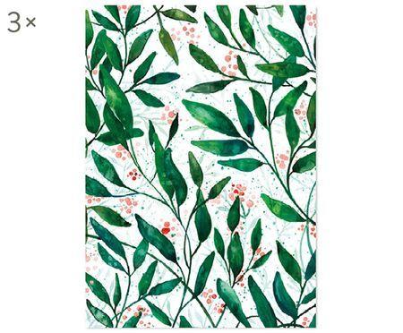 Cadeaupapier Green Leaves, 3 rollen