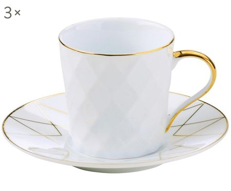 Komplet filiżanek do espresso Lux, 6 elem.
