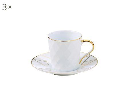 Sada šálků na espresso Lux, 6 dílů
