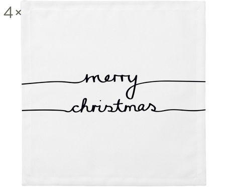 Stoffen servetten Merry Christmas, 4 stuks